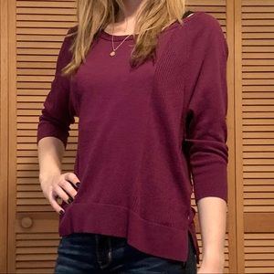 AEO Burgundy Boat Neck Sweater, Used